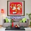 คู่บ่าวสาวจีน ภาพติดเพชรDiamond painting