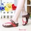 รองเท้าแตะ เพื่อสุขภาพ แบบหนีบ เสริมพื้น (สีแดง )