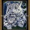 เสือ +ลูกเสือ ชุดปักครอสติช พิมพ์ลาย งานฝีมือ
