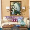 นกยูงคู่ ภาพติดเพชร ครอสติชคริสตรัล โมเสก Diamond painting