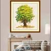ต้นเงินทอง ครอสติสคริสตัล Diamond painting ภาพติดเพชร งานฝีมือ DIY
