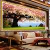 ดอกไม้บาน ครอสติสคริสตัล Diamond painting ภาพติดเพชร งานฝีมือ DIY