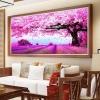 ต้นไม้ ทุ่งลาเวนเดอครอสติสคริสตัล Diamond painting ภาพติดเพชร งานฝีมือ DIY