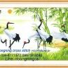 นกกระเรียน ต้นไผ่ ครอสติสจีนพิมพ์ลาย
