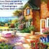 ระเบียงบ้านสวน ภาพติดเพชรDiamond painting
