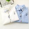 Pre-Order เสื้อเชิ้ตแขนยาวแต่งกระดุมน่ารัก ปักลายแปรงสีฟัน มี2สี