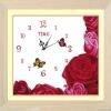 นาฬิกาดอกไม้ครอสติสพิมพ์ลาย