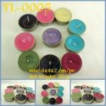 เทียน Tealight สี กลิ่น ตามชอบ แพ็ค 10 ชิ้น ใส่ถ้วย ขนาดต่อชิ้น 4x4x2 cm.