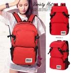 กระเป๋าเป้ใบใหญ่ Backpack กระเป๋าเป้เดินทางใช้ได้ทั้งชาย-หญิง (สีแดง)