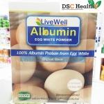 Livewell Albumin ไข่ขาวผง รสธรรมดา 900กรัม
