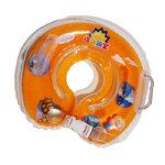 ห่วงยางคอเด็ก ห่วงยางคอทารกแสนน่ารัก (วงกลม) สีส้ม