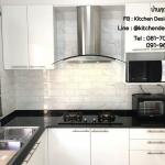 Modern Glossy White Kitchen (ชุดครัวบิวท์อินสีขาวเงาสุดฮิต)