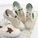 Pre-Order รองเท้าลำลองหนังเทียม ผูกเชือกสไตล์ผ้าใบ