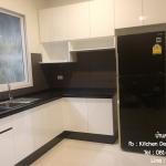 Black&White Kitchen (ครัวบิ้วอินสีขาวสไตล์โมเดิร์น)