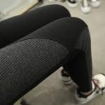 กางเกงเลกกิ้งคนท้อง ขายาว มีสายปรับระดับ ผ้ายืดเรียบ+ลูกฟูก สีดำ