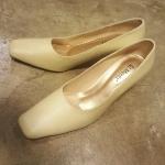 รองเท้าหนังครีม34