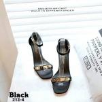 รองเท้าส้นตัน ผ้าซาติน(สีดำ)