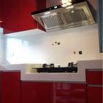 Super Red Modern Kitchen (บิ้วทับโครงปูนสีแดงเงาสไตล์โมเดิร์น)