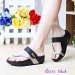 รองเท้าแตะ เพื่อสุขภาพ แบบหนีบ เสริมพื้น (สีดำ )