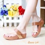 รองเท้าแตะ เพื่อสุขภาพ แบบหนีบ เสริมพื้น (สีทอง )