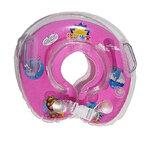 ห่วงยางคอเด็ก ห่วงยางคอทารก แสนน่ารัก (วงกลม) สีชมพู
