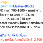 Package E (CAD+Print+Master+Block)