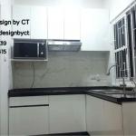 Modern White - Black Kitchen (ชุดครัวบิ้วอินสีขาว-ดำสไตล์โมเดิร์น)