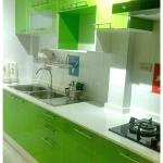 Colorful Green Kitchen (ครัวบิ้วอินสีเขียวสไตล์โมเดิร์น)