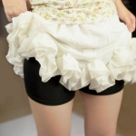 กางเกงซับใน กันโป๊คนท้อง ขอบขาเรียบ ผ้าเนื้อนิ่ม ยืดหยุ่นดี สีดำ