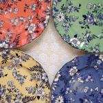 จานเซรามิคลายดอกไม้ 4 สี แบรนด์อังกฤษ Johnson Brothers