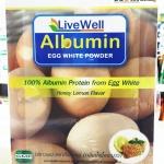 Livewell Albumin ไข่ขาวผง รสน้ำผึ้งมะนาว900กรัม
