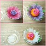 ดอกบัวขนาดกลาง ในถ้วยโดมเล็กใส ขนาด 7x7x6 cm.