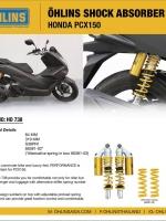 ชุดโช้คหลัง Ohlins Honda PCX 150 #HondaPCX150กระปุกบน ✳️ ราคา 17,950 บาทเท่านั้น