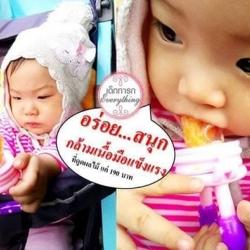ที่ดูดผลไม้และอาหารเด็ก สีชมพู