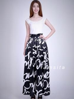 MD0009 เสื้อผ้าแฟชั่น เสื้อผ้าเกาหลี เสื้อผ้าแฟชั่นเกาหลี แม็กซี่เดรส Maxi Dress ชุดไปงาน ชุดออกงาน ชุดกระโปรงยาว ชุดแซกยาว เดรสยาว