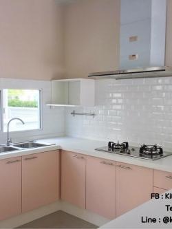 Pink Pastel Kitchen (ครัวบิ้วอินสีชมพูพาสเทลสไตล์คลาสสิค)