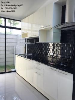 White Modern Kitchen (ครัวบิ้วอินสีขาวสไตล์โมเดิร์น)