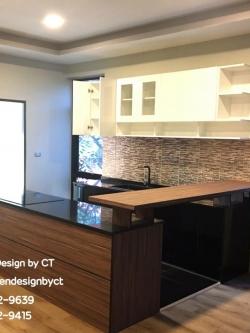Loft Style Kitchen with Bar (ครัวบิ้วอินพร้อมบาร์สไตล์ลอฟท์)