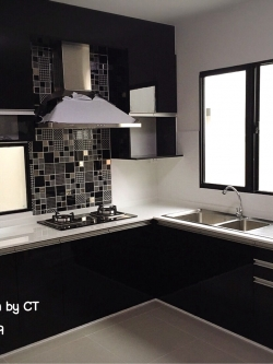 Smart Black Kitchen (ครัวบิ้วอินสีดำสไตล์โมเดิร์น)