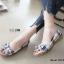 รองเท้าคัทชูส้นแบน เกาหลี สไตล์โบฮิป(น้ำเงิน) thumbnail 1