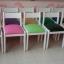 เก้าอี้เด็ก POLO โครงไม้ เบาะหุ้มหนังสีสวยงาม