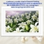 ดอกลิลลี่ขาว ภาพติดเพชร ครอสติชคริสตรัล โมเสก Diamond painting thumbnail 2