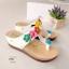 รองเท้าแตะส้นเตารีด แบบคีบ แต่งดอกไม้ (สีขาว ) thumbnail 1