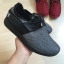 รองเท้าผ้าใบทรงสปอร์ต แบบเชือกรูด (สีดำ ) thumbnail 3