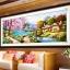 บ้านริมธาร ครอสติสคริสตัล Diamond painting ภาพติดเพชร งานฝีมือ DIY thumbnail 1