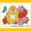 นาฬิกาดอกไม้ ชุดปักครอสติช พิมพ์ลาย งานฝีมือ thumbnail 1