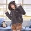 Pre-Order แจ๊คเก็ตฮู้ดหมีขนนุ่ม สีเทา บุผ้าฝ้ายด้านใน thumbnail 1