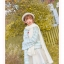 Pre-Order กระโปรงสั้นผ้าWool สีขาว ปักลายเถาวัลย์ thumbnail 12