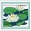 ดอกบัวขาว ชุดปักครอสติช พิมพ์ลาย งานฝีมือ thumbnail 1