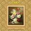 แจกันดอกไม้ ภาพติดเพชร ครอสติชคริสตรัล โมเสก Diamond painting thumbnail 1